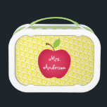 """Red Apple Personalized Teacher&#39;s Lunch Box<br><div class=""""desc"""">Red Apple Personalized Teacher&#39;s lunch box.</div>"""