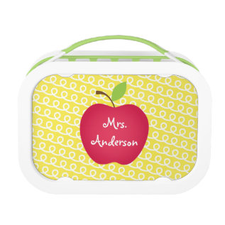 Red Apple Personalized Teacher's Lunch Box at Zazzle