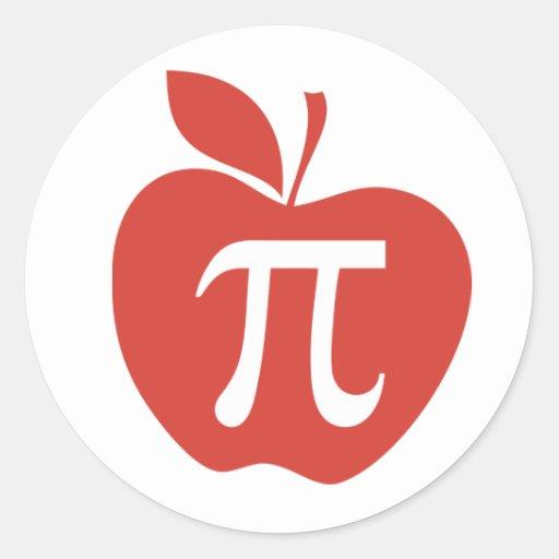 Red Apple Pie Classic Round Sticker