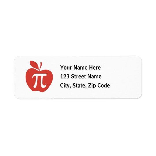 Red Apple Pie Label