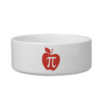 Red Apple Pie Cat Water Bowl