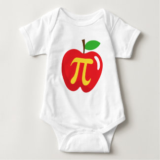 Red apple pie pi symbol t shirt