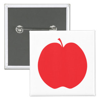 Red Apple. Pinback Button