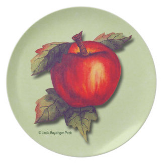 Red Apple Party Plate