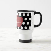 Red Apple & Polka Dot Teacher Travel Mug