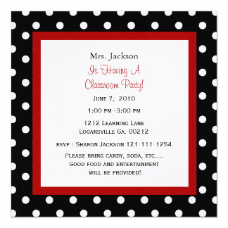 Red Apple & Polka Dots Invitation