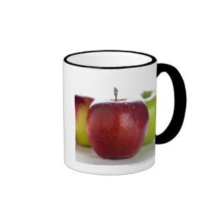 Red Apple Ringer Mug