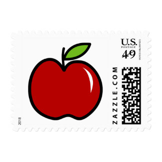 Red apple stamps for elementary school teachers