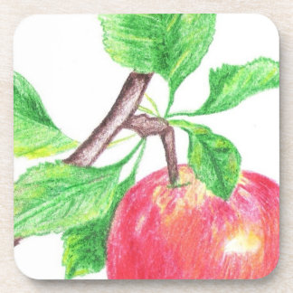 Red Apple Study (Pencil by Kimberly Turnbull Art) Beverage Coaster