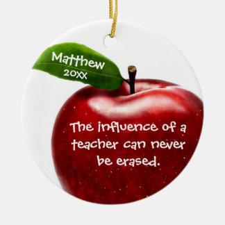 Red Apple Teacher Appreciation Gift Ceramic Ornament