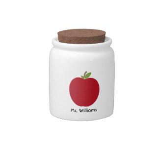 Red Apple Teacher Candy Jar