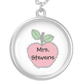 Red Apple Teacher Necklace
