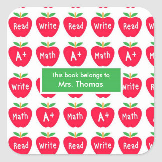 Red Apple Teacher Personalized Stickers