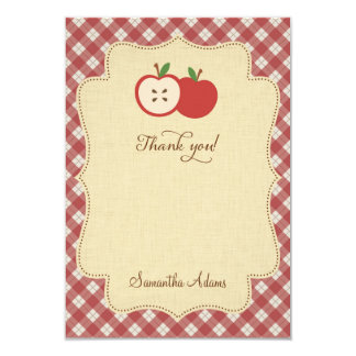 Red Apple Thank You Card