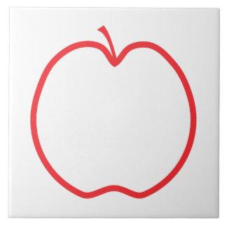 Red Apple. Ceramic Tile