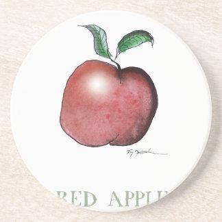 red apple, tony fernandes drink coasters