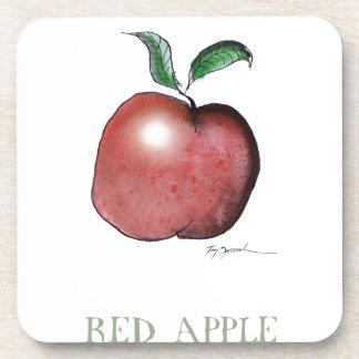 red apple, tony fernandes beverage coaster