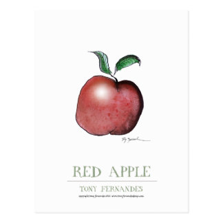 red apple, tony fernandes postcard