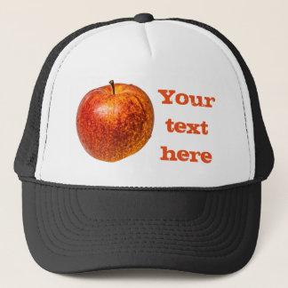 Red apple trucker hat