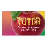 Red Apple Tutor Pnk Orange Business Card