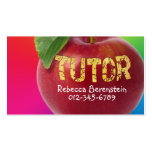 Red Apple Tutor Red Pink Business Card