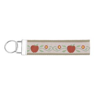 Red Apple Vine Wrist Key Chain