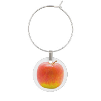 Red Apple Wine Glass Charm