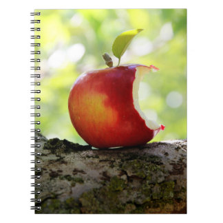 Red Apple With A Bite Out Notebook