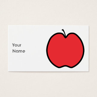 Red Apple with a Black Outline. Business Card