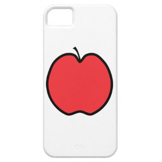 Red Apple with a Black Outline. iPhone SE/5/5s Case