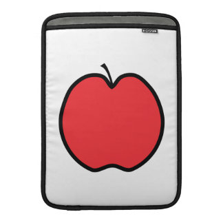 Red Apple with a Black Outline. MacBook Air Sleeve