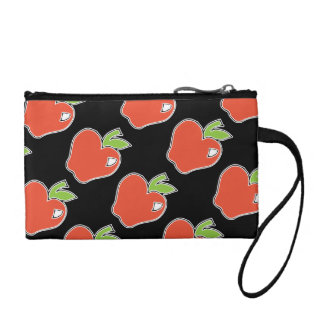 Red Apple with Green Leaves Clutch