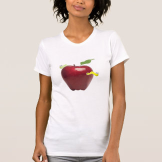 Red Apple with Silly Worms Shirt