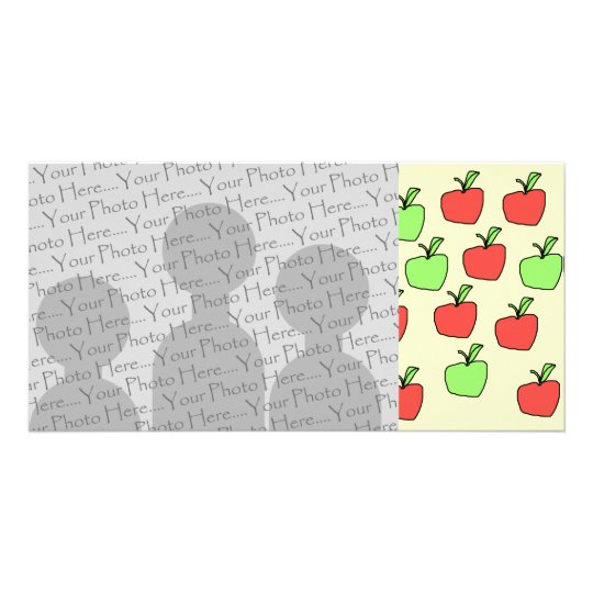 Red Apples and Green Apples, Pattern. Card