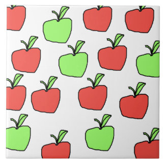 Red Apples and Green Apples Pattern. Ceramic Tile