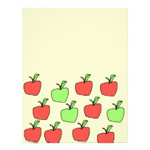 Red Apples and Green Apples Pattern. Flyer