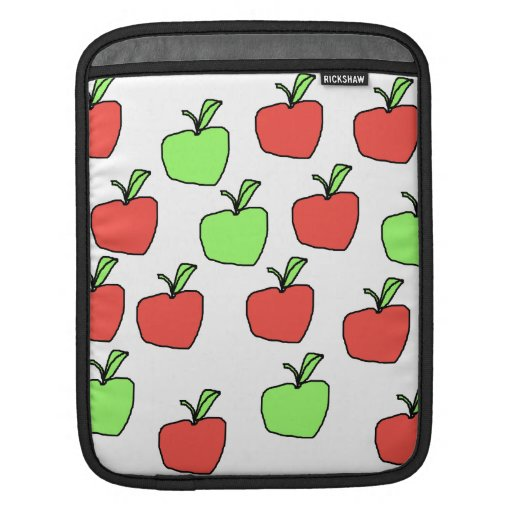 Red Apples and Green Apples Pattern. iPad Sleeve