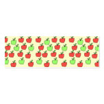 Red Apples and Green Apples, Pattern, on Cream. Double-Sided Mini Business Cards (Pack Of 20)