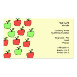 Red Apples and Green Apples, Pattern, on Cream. Business Card