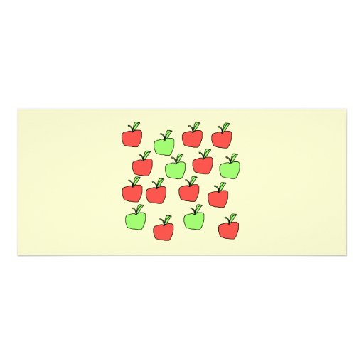 Red Apples and Green Apples, Pattern, on Cream. Rack Card Design