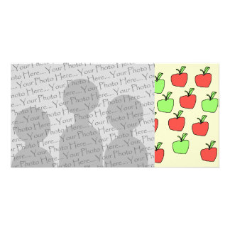 Red Apples and Green Apples, Pattern. Photo Card