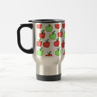 Red Apples and Green Apples Pattern. Travel Mug