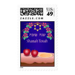 Red Apples and Honey Shanah Tovah Postage Stamp