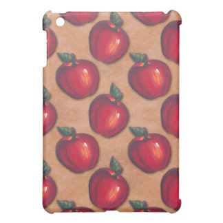 Red Apples Brown iPad Mini Covers