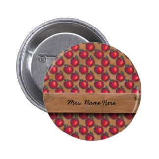 Red Apples Brown Pin