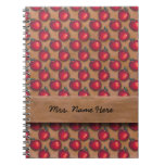 Red Apples Brown Spiral Note Book