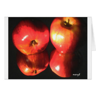 red apples card
