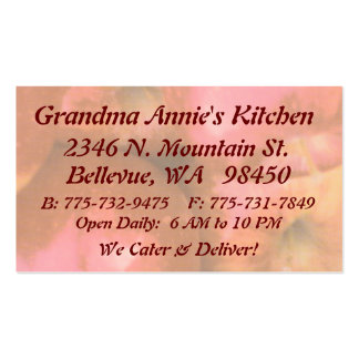 Red Apples Chef or Cook Business Owner Business Card