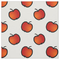 red apples choose your background color pattern fabric
