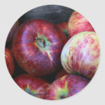 Red Apples Classic Round Sticker
